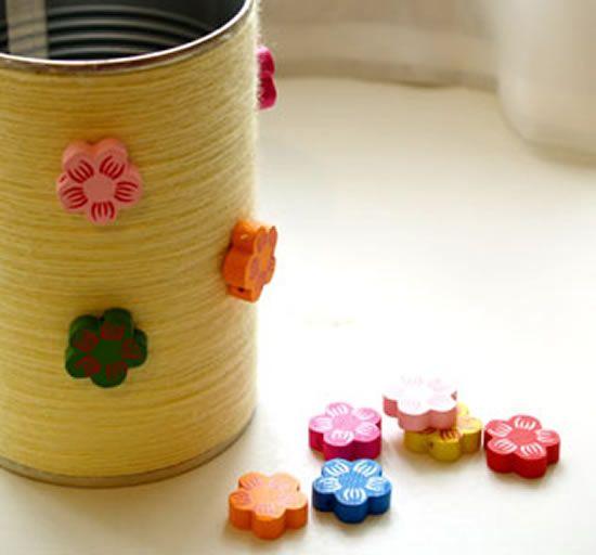 Como fazer artesanato com lata de leite passo a passo
