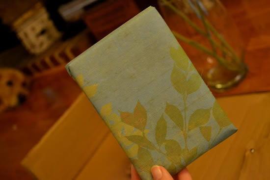 Bloco de papelão encapado com papel scrapbook