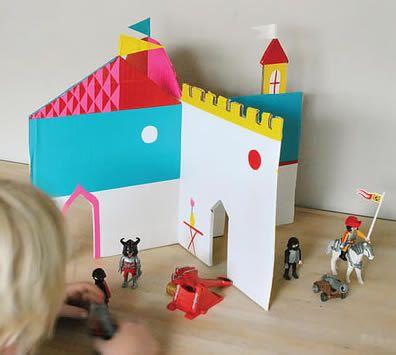 Como Fazer Castelo De Papelão Com Molde Passo A Passo
