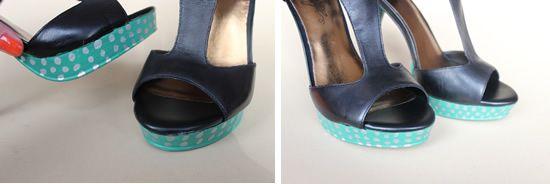 Sandalia anabela pintada