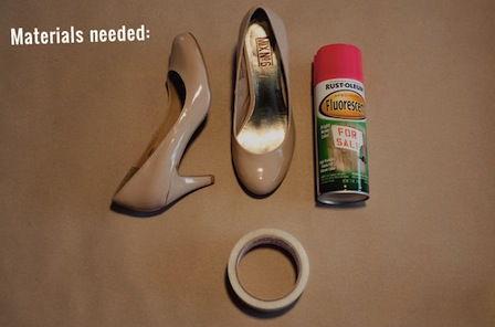Materiais para decorar sapatos