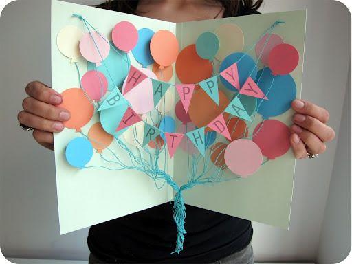 Cartão de aniversário passo a passo