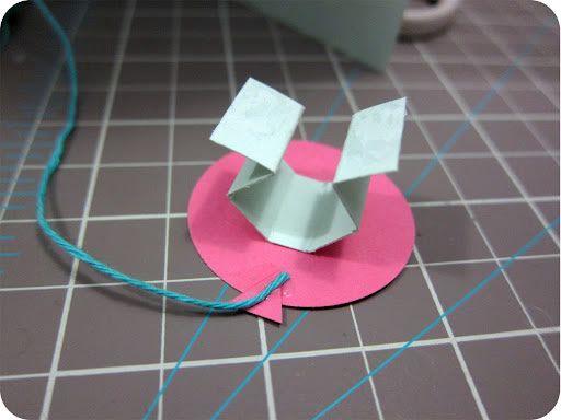 Balãozinho de papel para decorar cartão artesanal