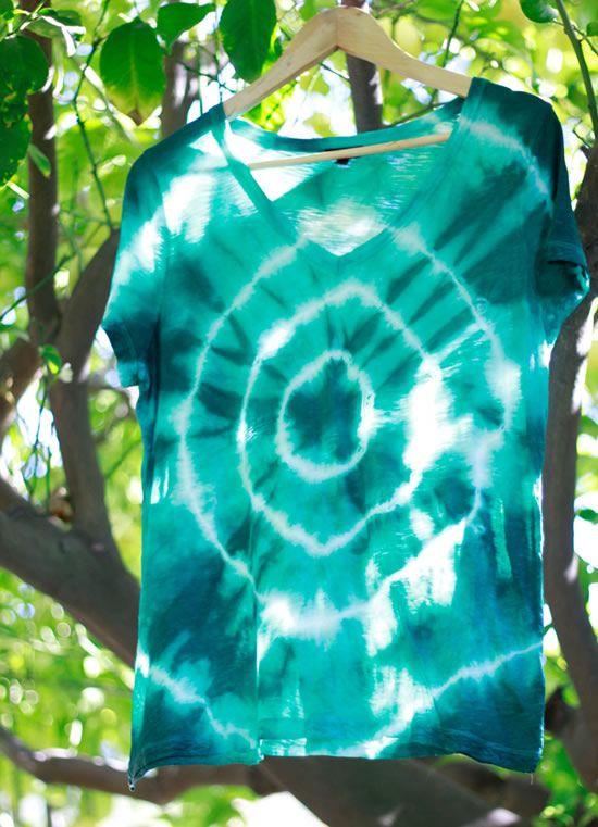Camisa hippie esperando secar