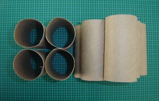 Artesanato com rolinhos de papelão