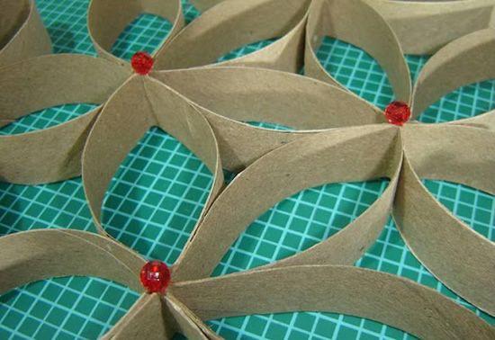 Rolinhos de papelão para decoração