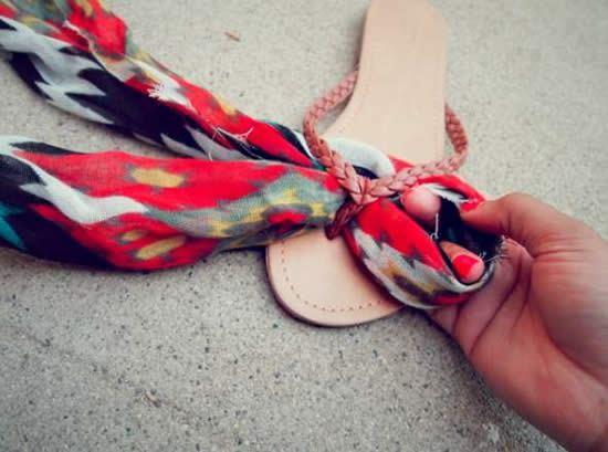 Decorar sandalias passo a passo