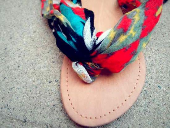 Decoração de sandalia passo a passo