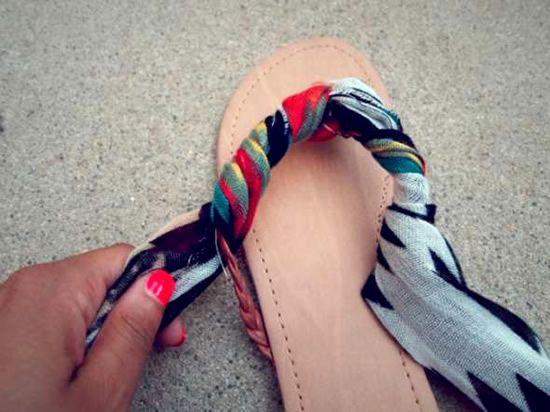 Personalizar sandalias passo a passo