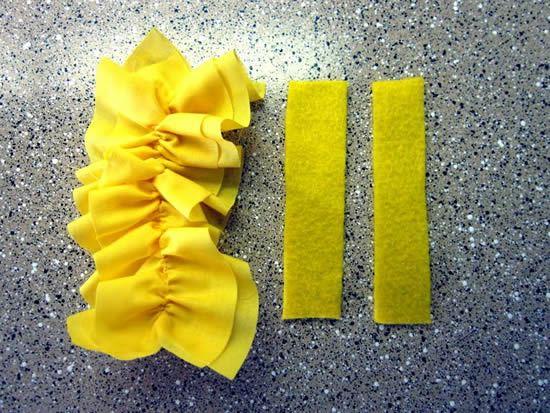Babado de tecido para fazer diadema