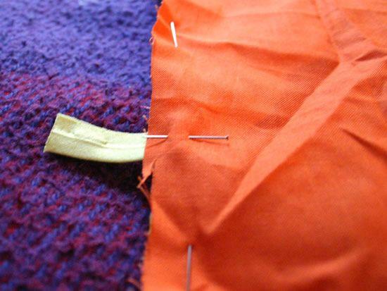 Fazendo porta agulhas de tricô