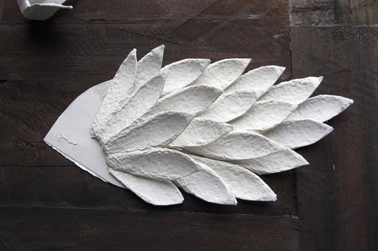 Asas de papelão para o galo
