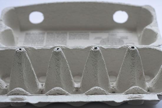 Caixa de ovo para fazer artesanato