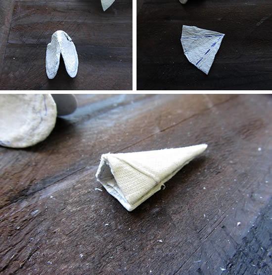 Bico de papelão do galo artesanal