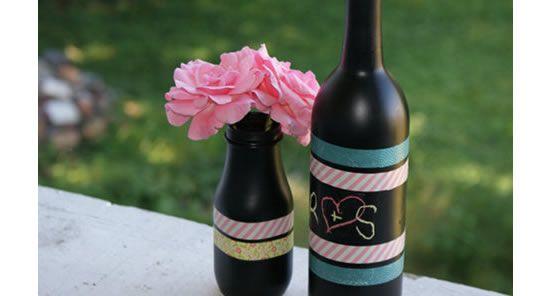 Criando a decoração com garrafas para sua casa
