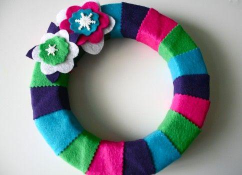 Como fazer guirlanda colorida para o Natal