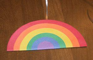 Móbile colorido para festa infatil