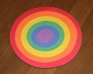 Círculo colorido arco-íris