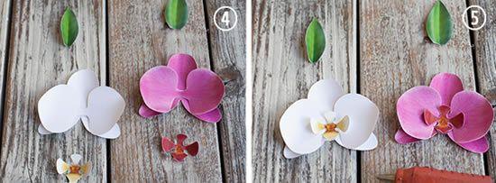 Criando orquidea artesanal passo a passo