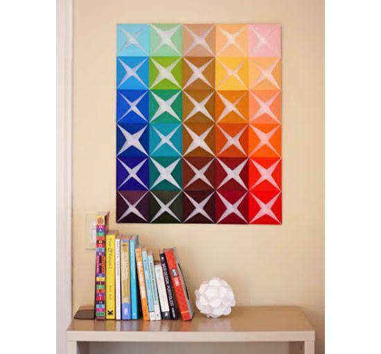 Painel colorido para decorar o quarto