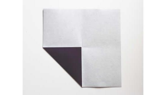 Decoração com papel para origami