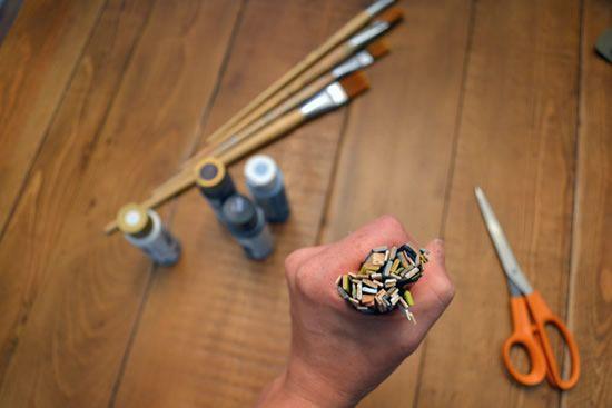 Palitos para decoração de quadro artesanal