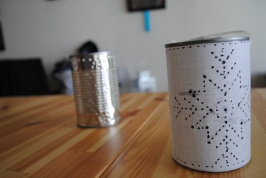 Criando desenho na lata de leite