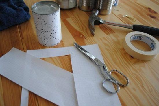 Fazendo luminária com lata de leite passo a passo