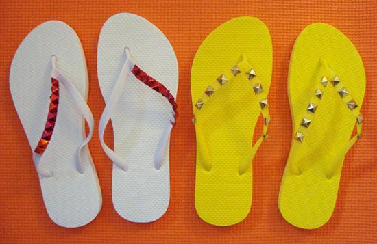 Decorar sandalias havaianas passo a passo
