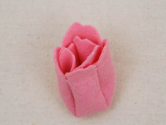 Tulipa de feltro passo a passo