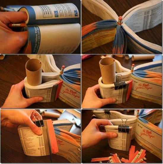 Criando porta-lápis com reciclagem