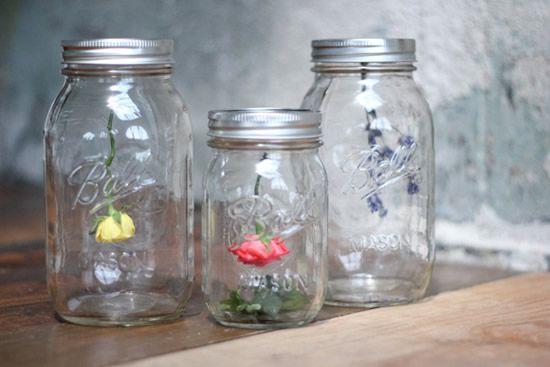 Artesanato reciclando potinhos de vidro