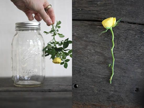 Flor para fazer artesanato com pote de vidro