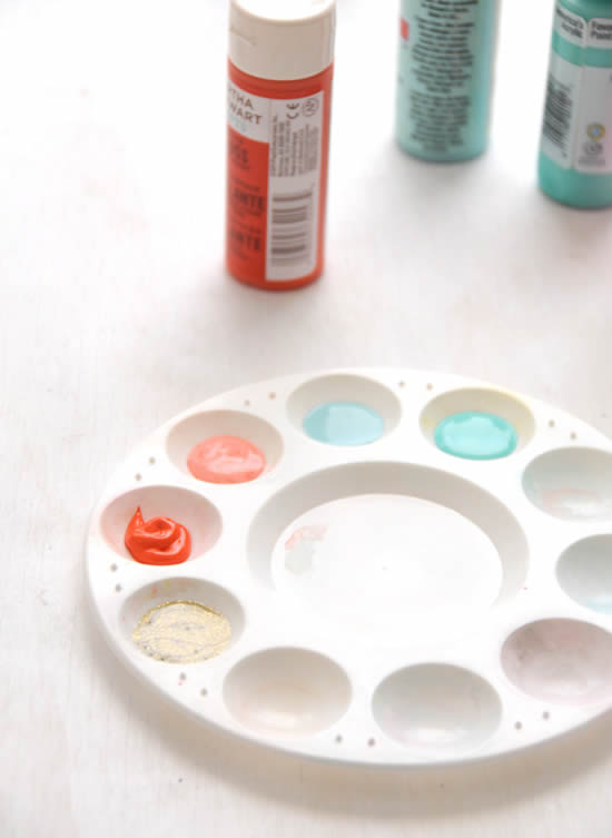 Pintura em biscuit com tinta de tecido