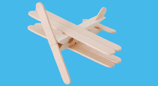 Aviões com palitinhos de picolé