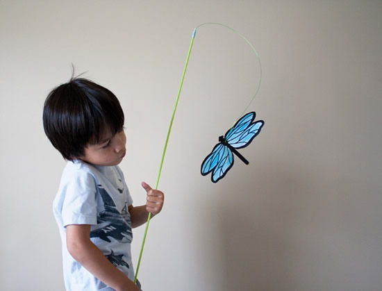 Varinha com borboleta artesanal para o Dia das Crianças