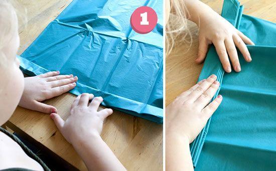 Como fazer artesanato com papel de seda