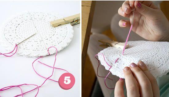 Decoração com toalhinha de crochê