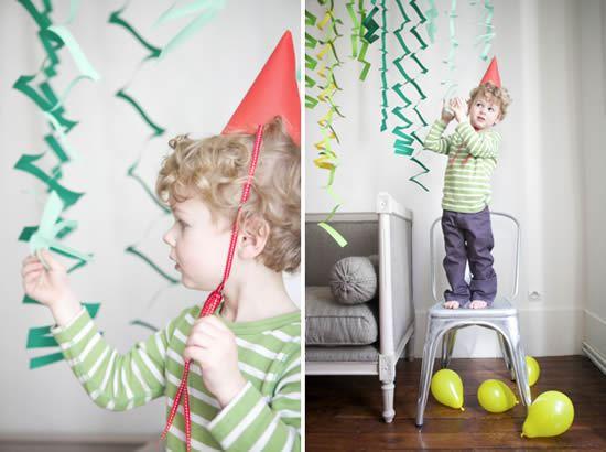 Decoração infantil barata com papel colorido