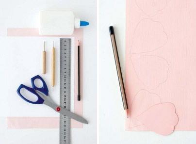 Fazendo flor de papel para decorar ambiente