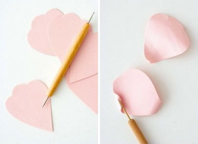 Criando flor de papel com cartolina