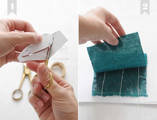 Criando penas de tecido