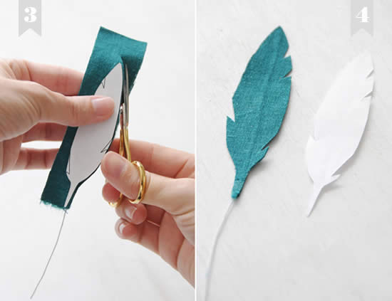 Criando penas de tecido passo a passo