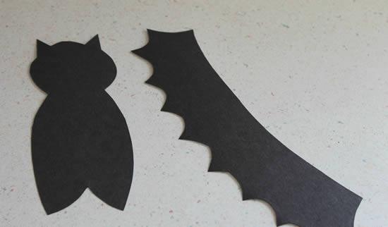 Cartolina cortada com tesoura