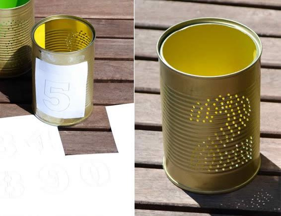 Reciclando latas de alumínio