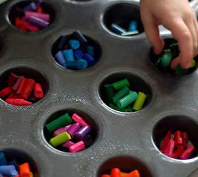 Criando decoração com lápis de cera