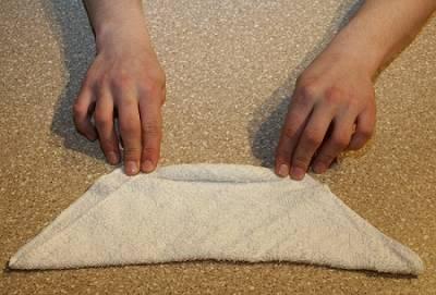 Como fazer coelho com toalha