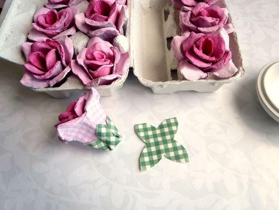 Criando flores de papelão