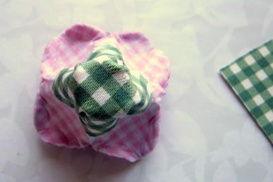 Tecido para base de flor