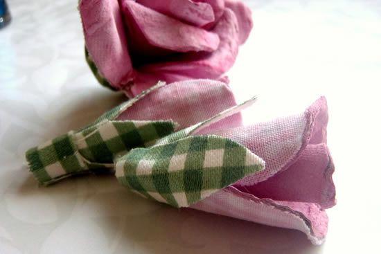Base de tecido para flor de papelão